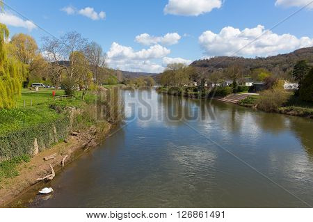 River Wye Monmouth Monmouthshire Wales uk in the beautiful Wye valley