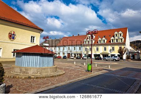 Town of Bad sankt Leonhard im Lavanttal colorful streetscape Carinthia Austria