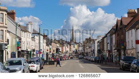 MONMOUTH, MONMOUTHSHIRE, WALES-APRIL  17TH  2016: Beautiful spring weekend weather greeted locals and visitors to the Wye valley, Monmouth, Wales on Sunday 17th April 2016