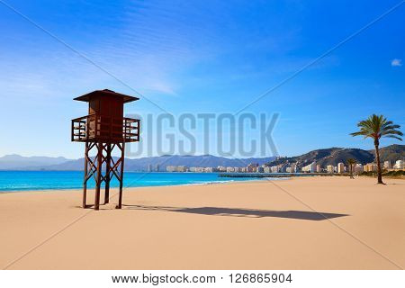 Cullera Playa los Olivos beach in Mediterranean Valencia at Spain
