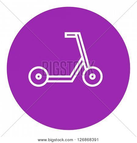 Kick scooter line icon.