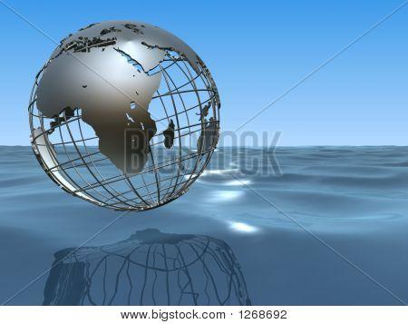 Ocean With Globe