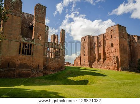 Kenilworth Castle in England, West Midlands, UK, formed a base for Lancastrian operations in the Wars of the Roses