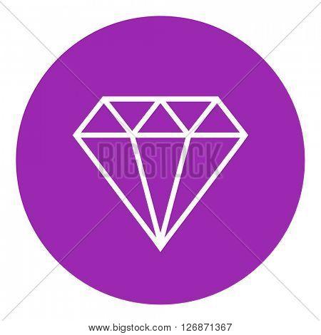 Diamond line icon.