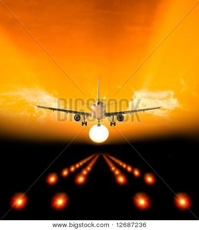 Landing onto the sunset world