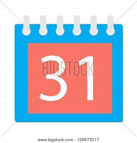 Calendar page icon. Event detachable page calendar design plan organizer. Vector flat design illustration