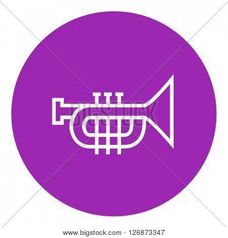 Trumpet line icon.