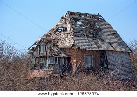 Rural old house abandoned many years ago