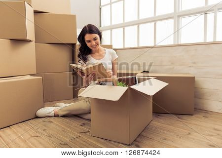 Young Woman Moving