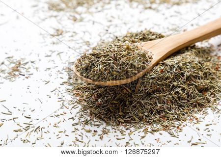 Dried Thyme On White Table