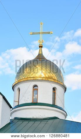 Holy Trinity Cathedral in Kolpino town on the outskirts of St. Petersburg Russia.