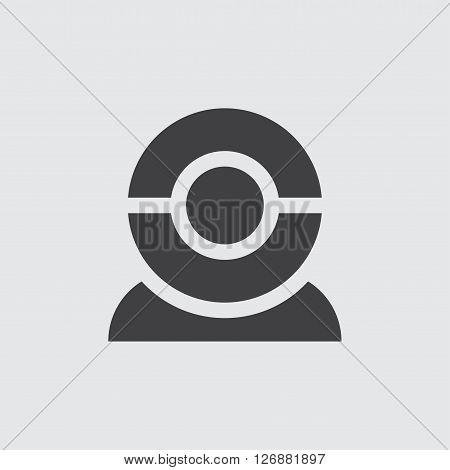 Webcam icon, isolated on white background illustration