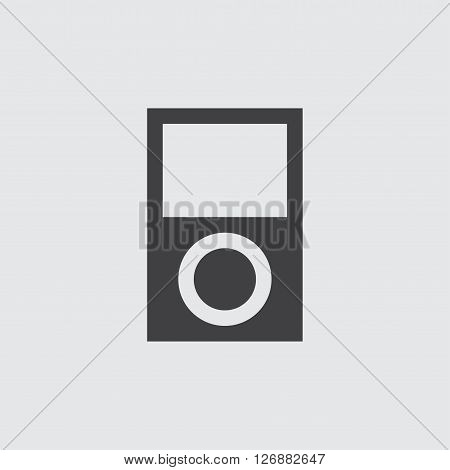 Mp3 player icon, isolated on white background illustration