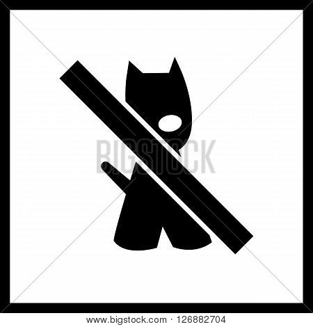 No dogs sign vector.Vector Dogs prohibited.Dogs not allowed icon isolated on white background.