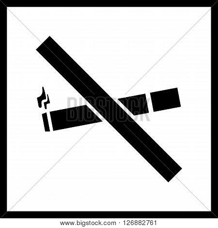 No smoke sign.Vector No smoke icon isolated on a white background.Public icon, pointer
