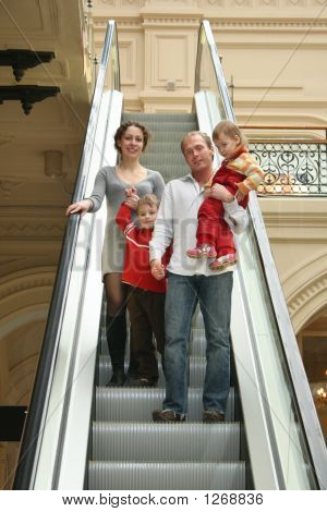 Family On The Escalator