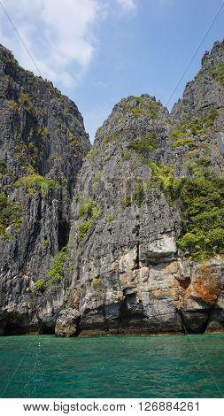 Limestone Rocks In Thailand