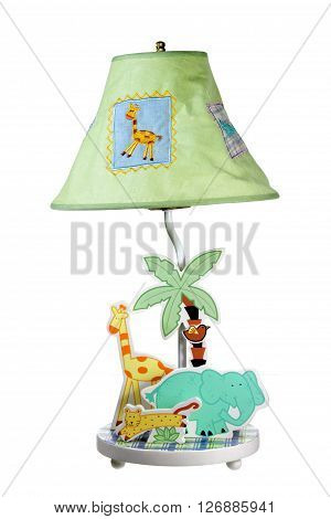 Children Table Lamp on Isolated White Background