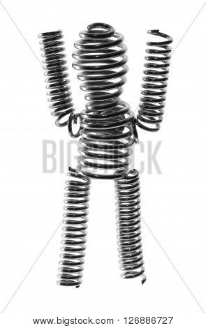 Wire Figure on an Isolated White Background
