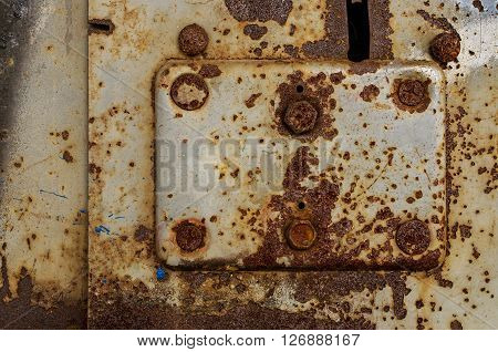 Obsolete rusty metal background with abstract texture