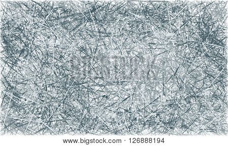 Vector grey and blue abstract scratched grunge background. Vector illustration