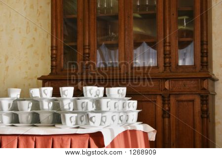 Many Cups In Hotel