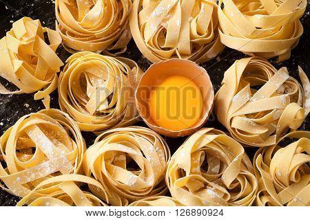 Fettuccine Pasta Italian Food Still Life