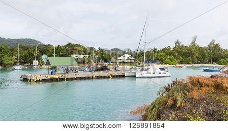 La Digue Harbor, Seychelles, Editorial