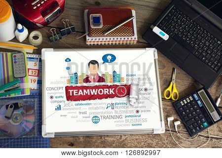 Teamwork Concept For Business, Consulting, Finance