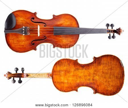 Top And Bottom View Of A Violin