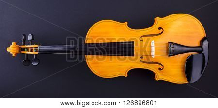 Front View Of A Yellow Violin