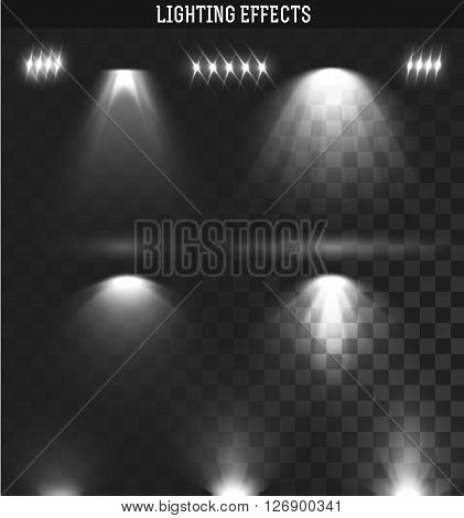 Set light effect. Ies light from the projector realistic isolated. Ies lighting. Photometric light. Target light. spotlight realistic effect. Isolated lighting effects. The effect of transparency.
