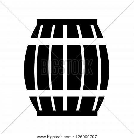 an images of Wooden Beer Keg Icon Illustration design