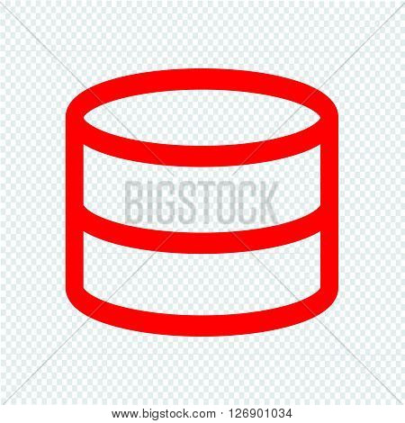 an images of Data Storage icon Illustration design