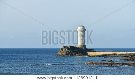 Lighthouse Of Ile De Sein In Brittany, France