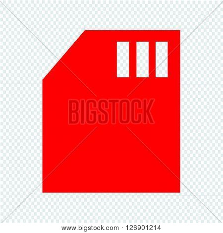 an images of Memory Card icon Illustration design