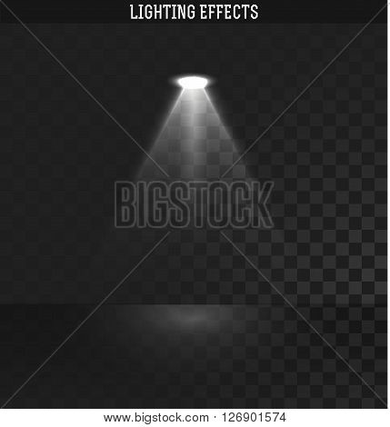 Light effect. Ies light from the projector realistic isolated . Ies lighting . Photometric light. Target light. spotlight realistic effect . Isolated lighting effects. The effect of transparency