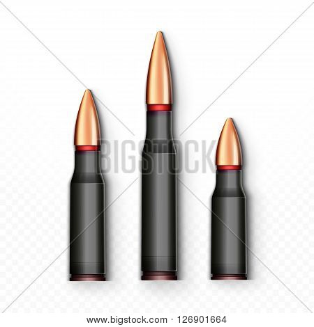 Bullet realistic . Bullet isolated on white background. Sleeve realistic . Bullet object  Cartridge realistic