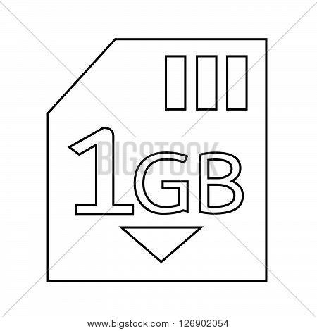 Memory Card 1 Gb icon Illustration design