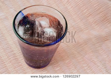 Cranberry juice nd lemon lie soda punch in glass