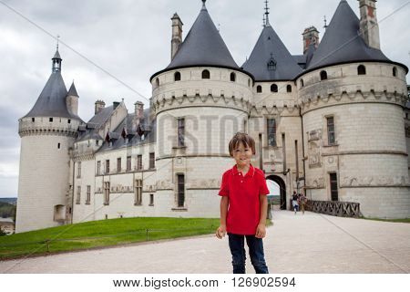 Portrait Of A Child In Front Of Chaumont Castle