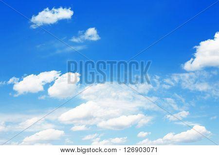 Beautifully blue cloudy sky