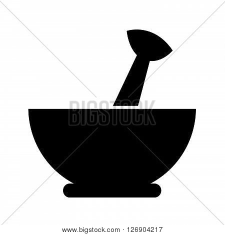 an images of Mortar and pestle icon Illustration design