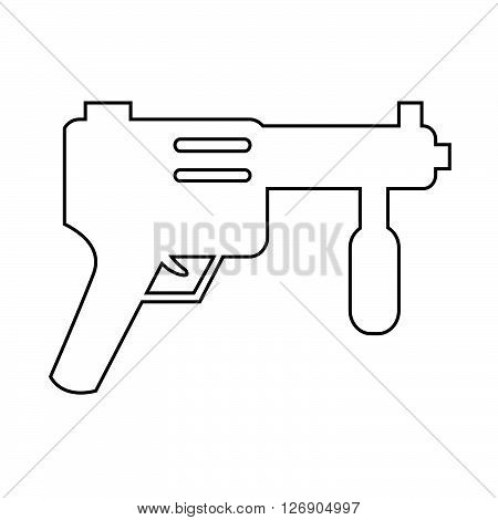 an images of Submachine Gun icon Illustration design