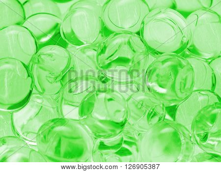 green transparent balls close-up, texture, background, gel, gelatin