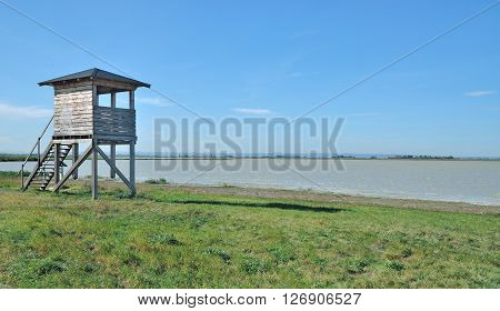 Salt Lake called Lange Lacke in Seewinkel at Lake Neusiedler See National Park in Burgenland,Austria