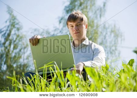 Men Working On Laptop
