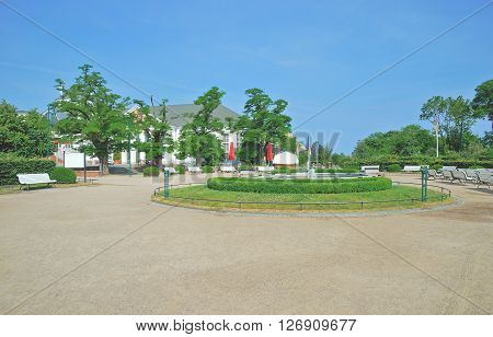 Promenade of Heringsdorf on Usedom Island at Baltic Sea,Mecklenburg western Pomerania,Germany