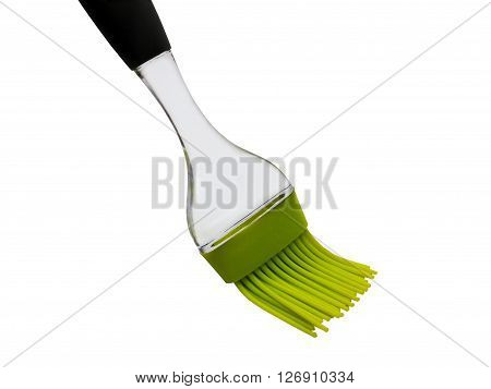 Silicon plastic brush for baking isolated on white background