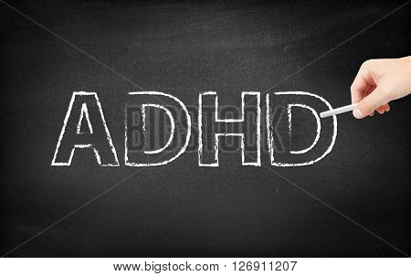 ADHD written on a blackboard